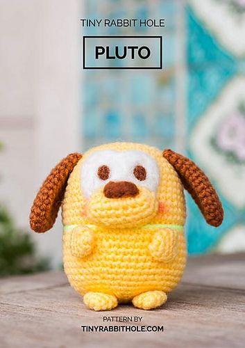 Ufufy Pluto from Disney Amigurumi pattern by Tiny Rabbit Hole ...