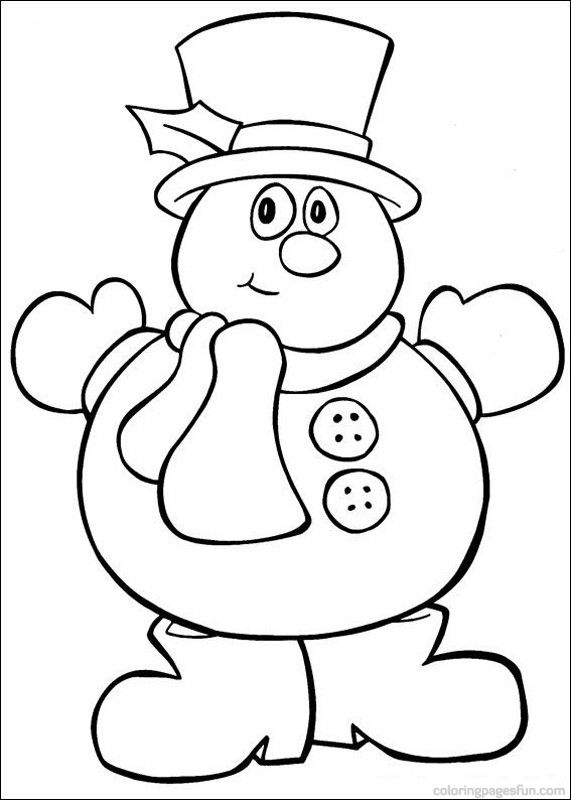 Snowmans On Pinterest Coloring Sheets Pictures To Pin On Pinterest
