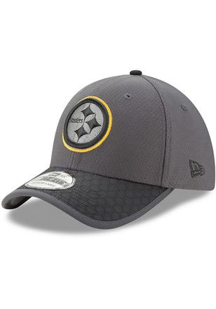 New Era Pittsburgh Steelers Mens Grey 2017 Official Sideline Flex ... a97c55626