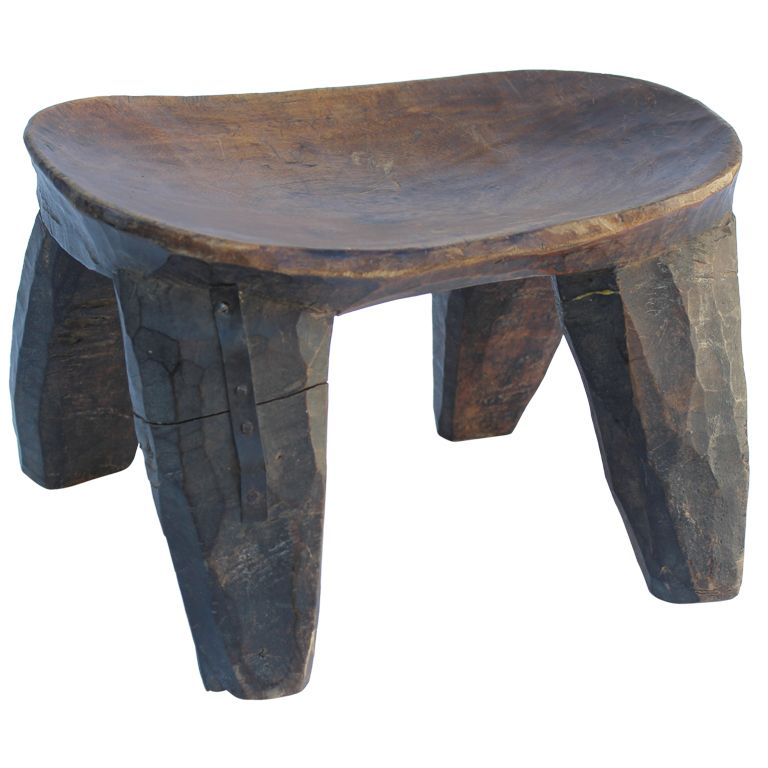 Carved African Stool to pair with other John Hutton Armchair | 椅子 ...