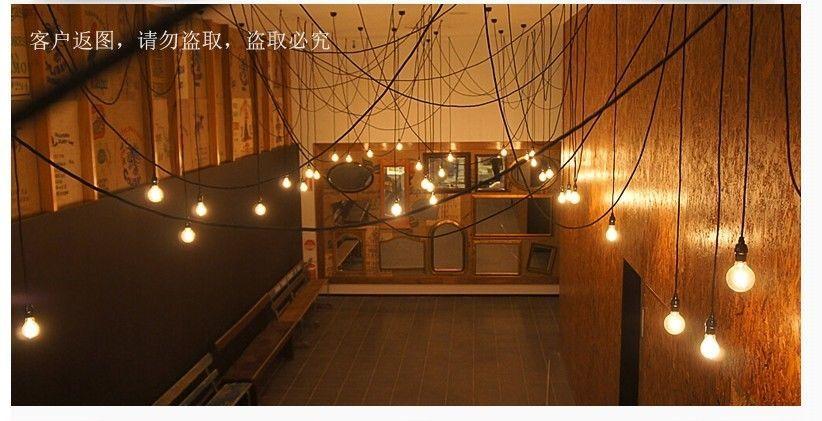 Industrial Retro Brass Filament Lamp cluster Bespoke Retail Shop Chandelier | eBay