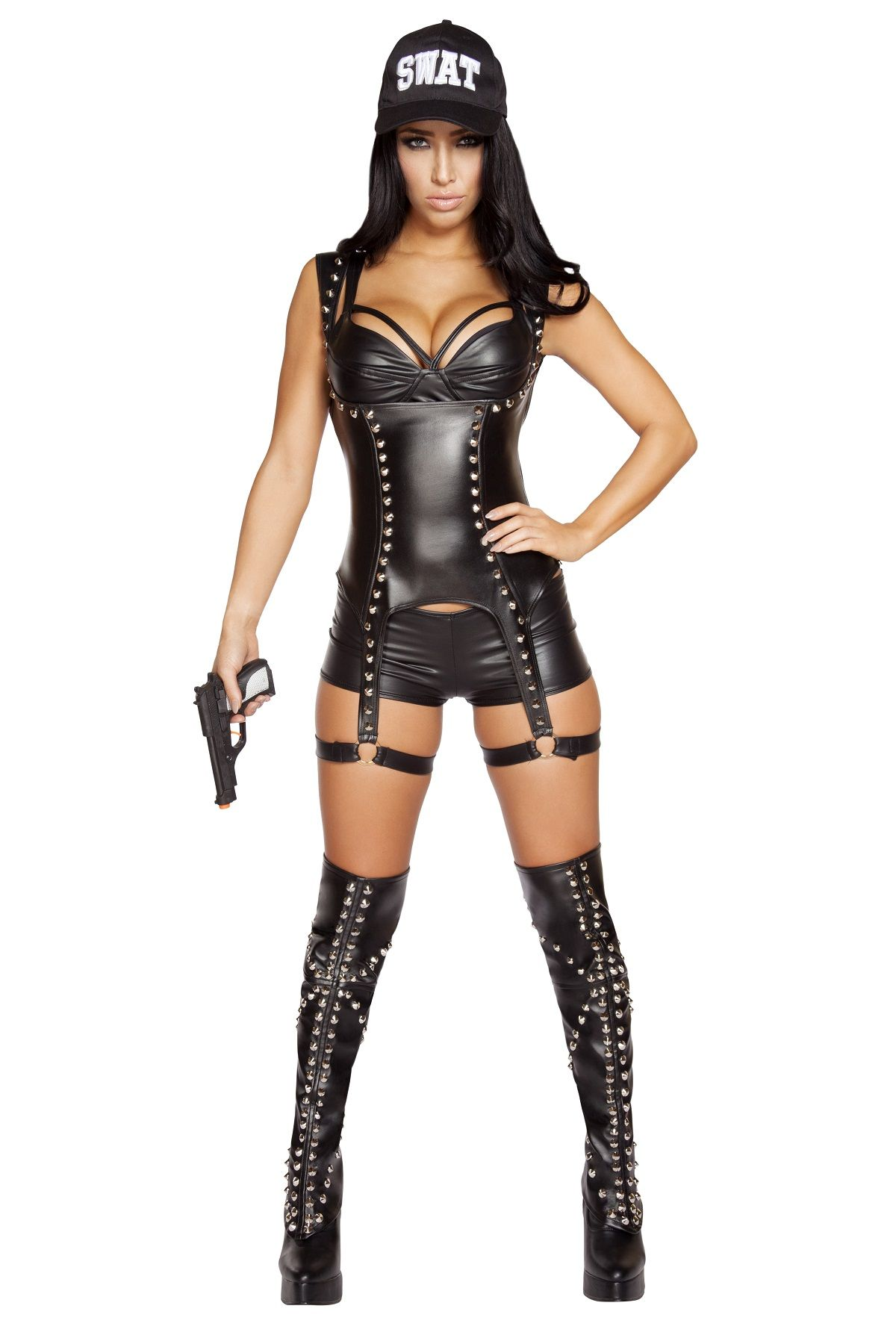 swat agent woman police halloween costume - Girls Cop Halloween Costume