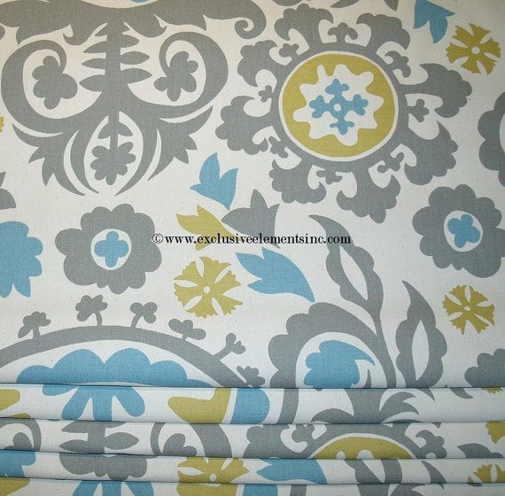 Damask Curtain Panels Blue Grey Curtains By Exclusiveelements