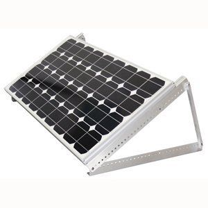 Adjustable Tilt Mount - For Samlex solar panels by Samlex. $120.00. Over 30 adjustable settings between 0-90°.. Weather resistant aluminum.. Includes carriage bolts and wing nuts.. Will fit any of the Samlex solar panels from the off grid solar charging kits.. Allows you to tilt your panel for optimal sun exposure amplifying solar energy collection up to 50%.. ?Allows you to tilt your panel for optimal sun exposure amplifying solar energy collection up to 50%,            ...
