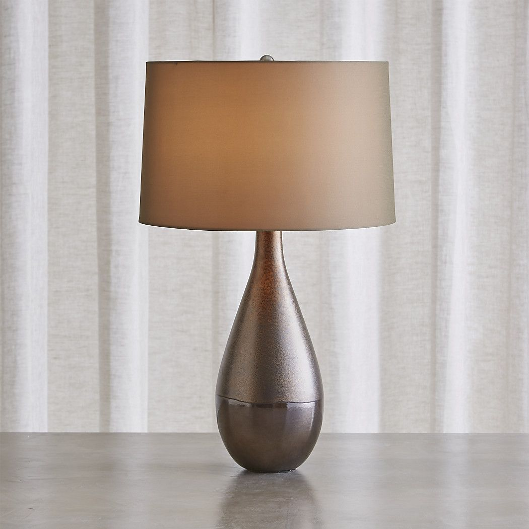 Shop Downtown Bronze Table Lamp Matte And Glossy Glazes Containing