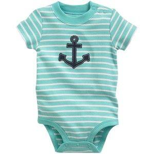 Carter's Striped Anchor Bodysuit Baby