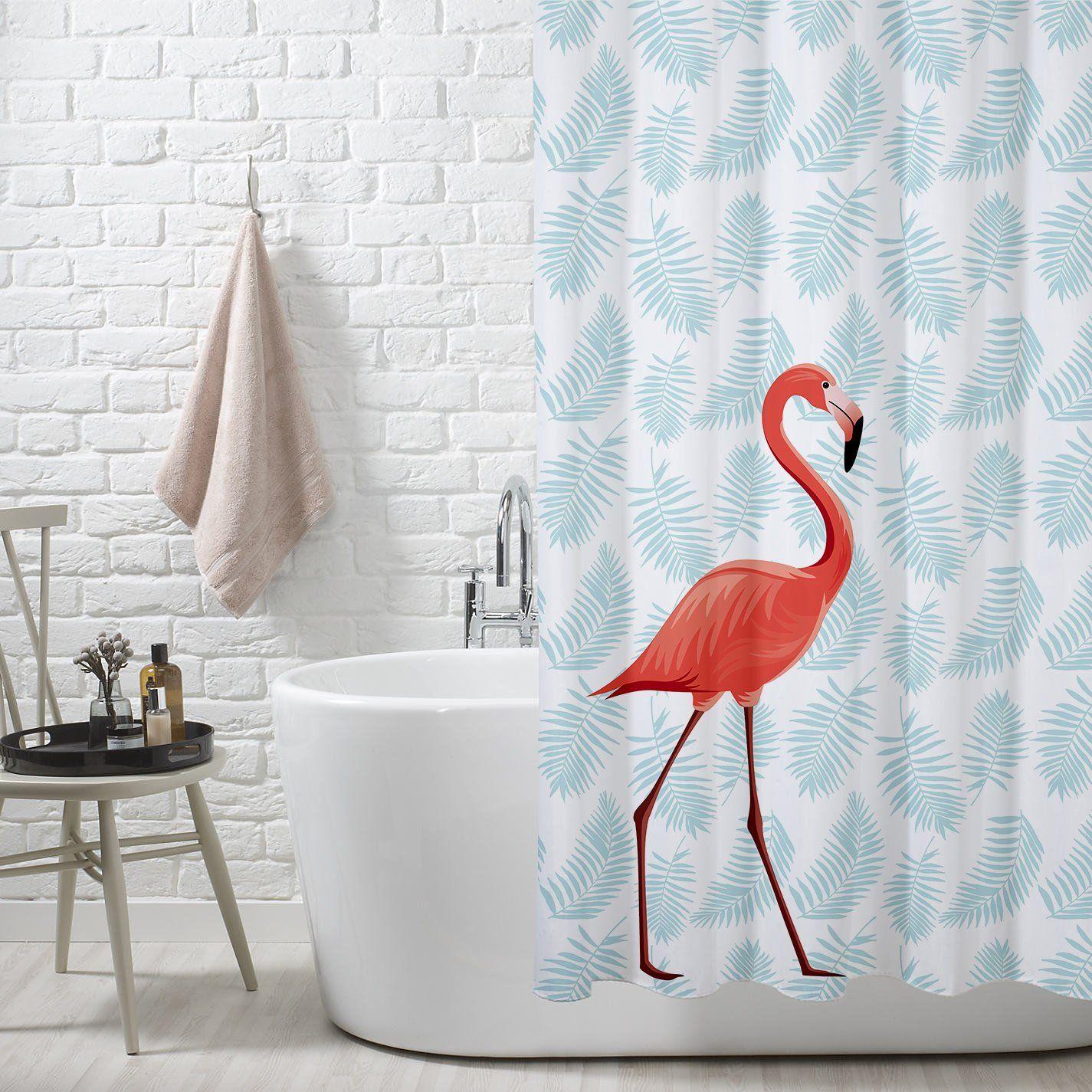 Diy Deko Flamingo Duschvorhang Oder Als Vorhang Fur Den Flur Oder