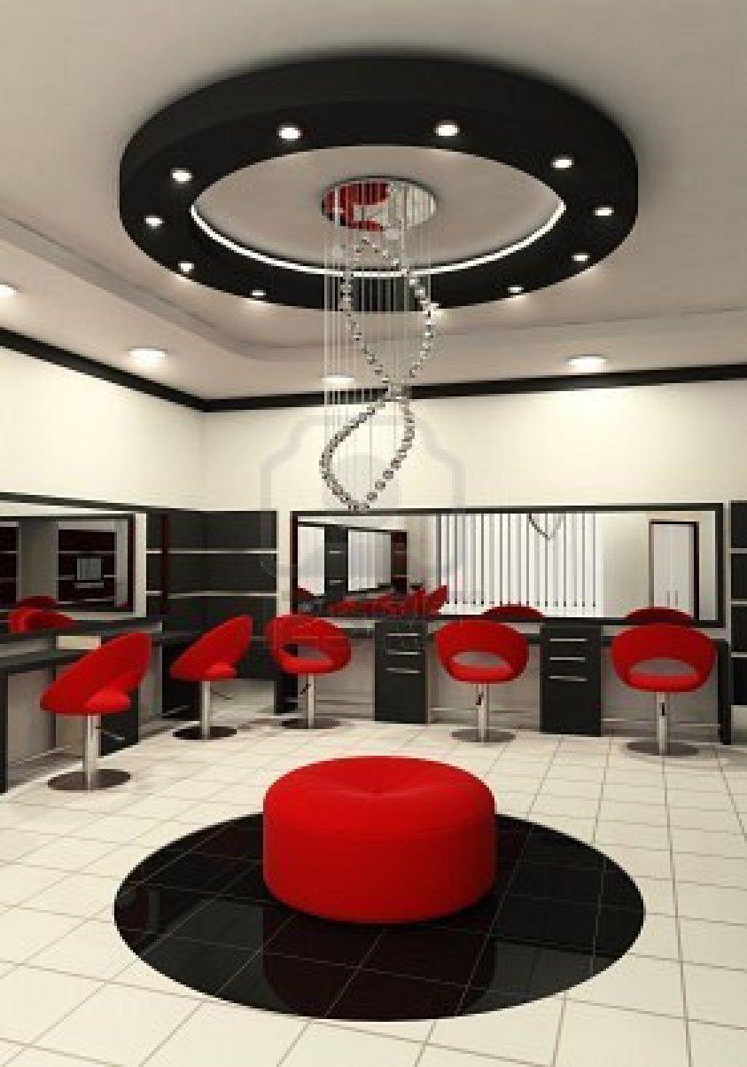 red and black my kinda salon my core beauty salon decor rh pinterest com