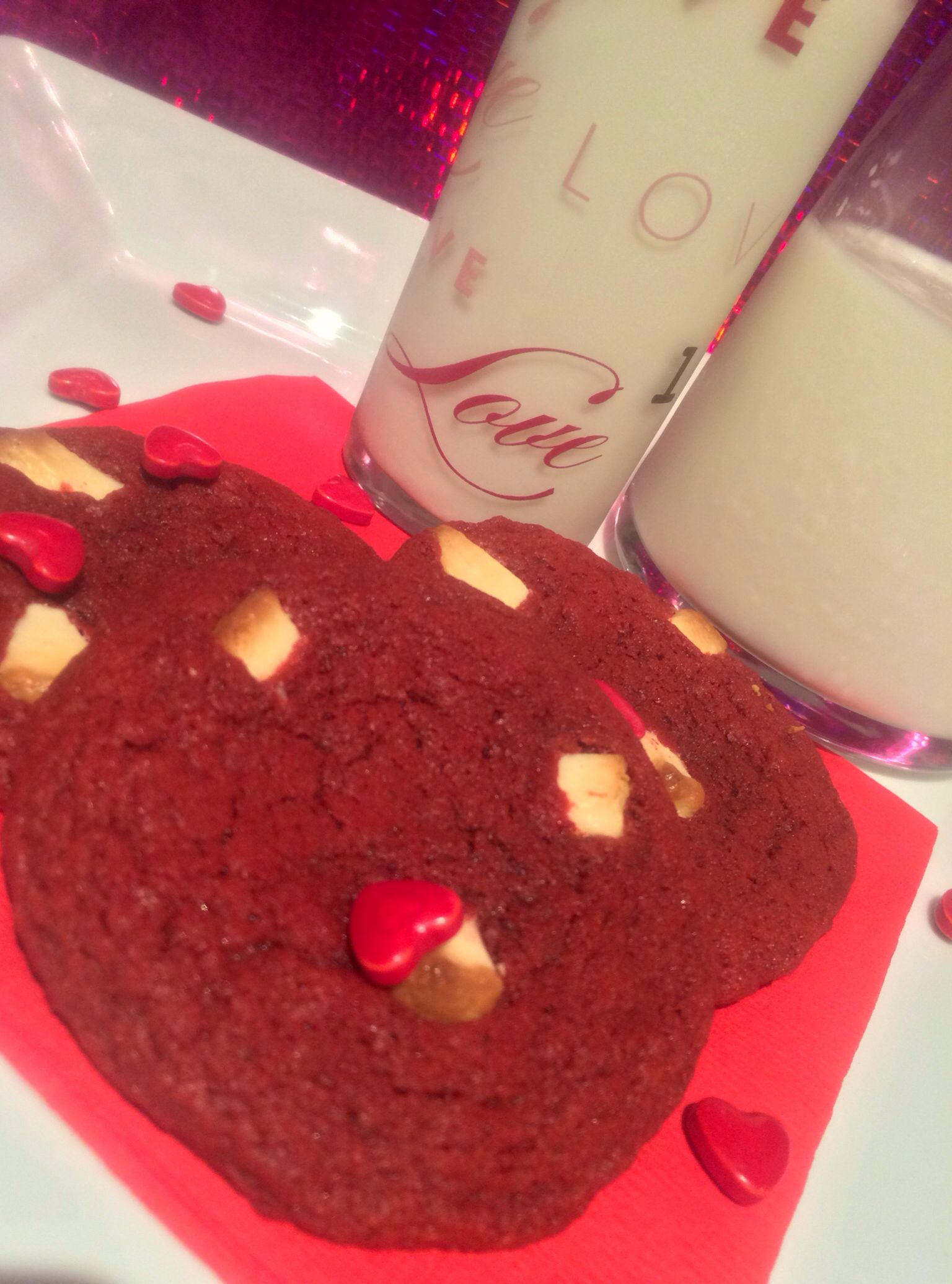 All we need is love red velvet cookies