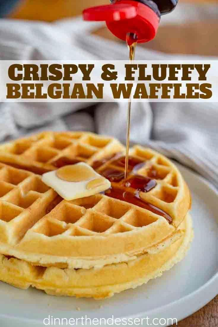 Belgian Waffles are crispy on the outside and fluffy on the inside and EASY to make; ready in only a few minutes with pantry ingredients!