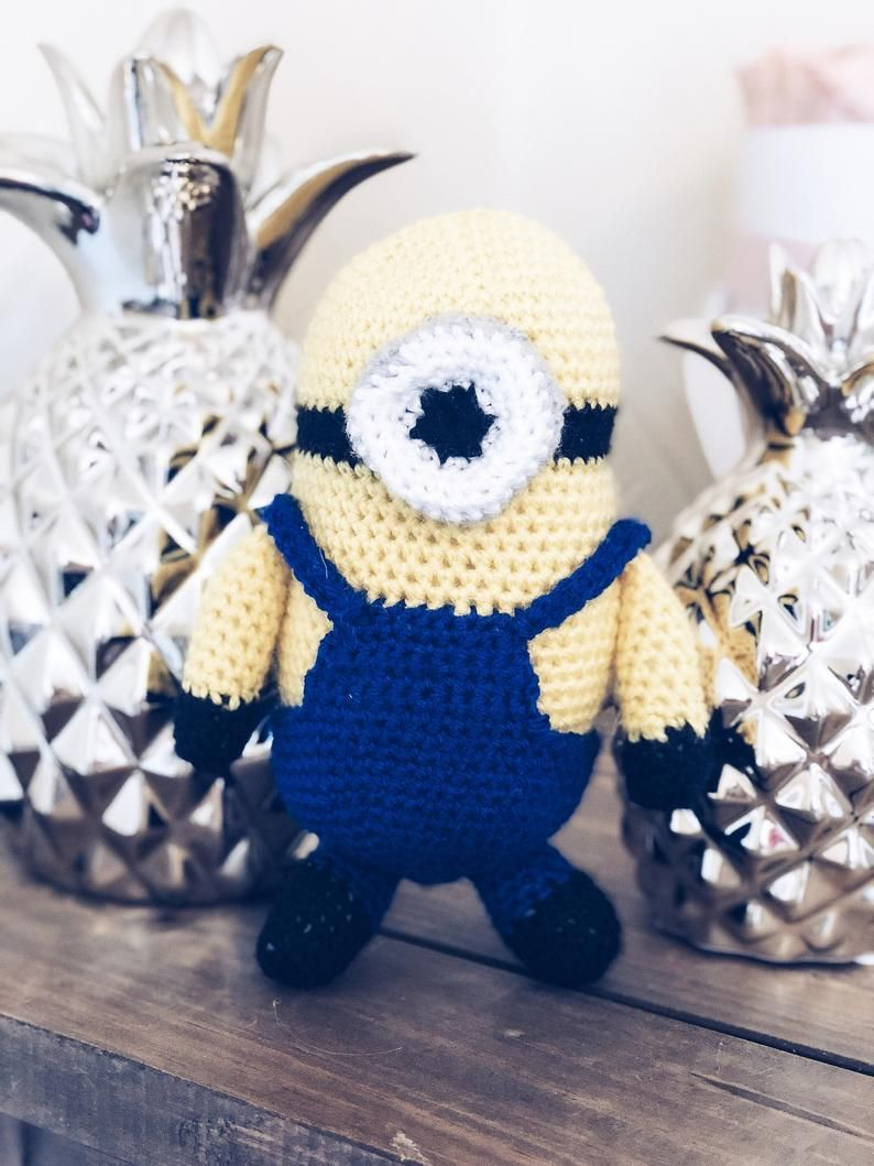 Stuart the Minion PDF crochet Pattern #minioncrochetpatterns Stuart the Minion PDF crochet Pattern image 0 #minioncrochetpatterns