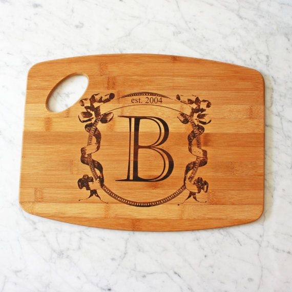 personalized kitchen accessories personalized cutting board custom engagement gift or 1471