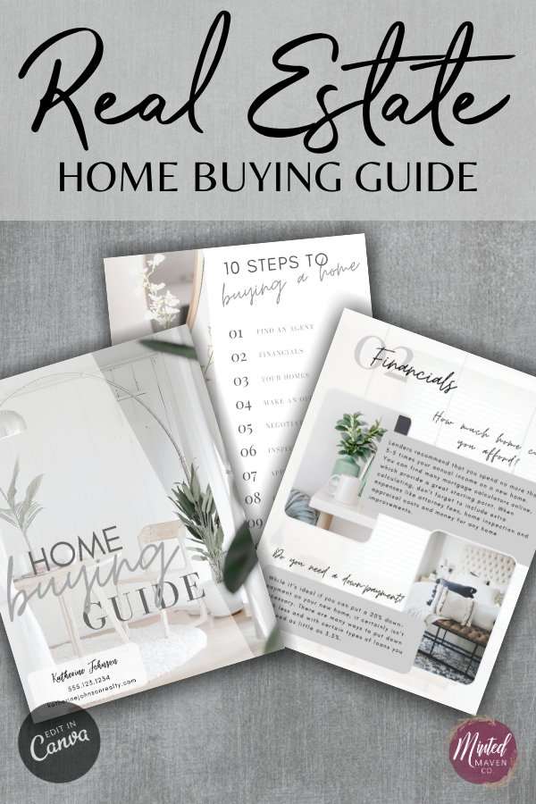 Real Estate Home Buying Guide Template Easy to Edit in ...