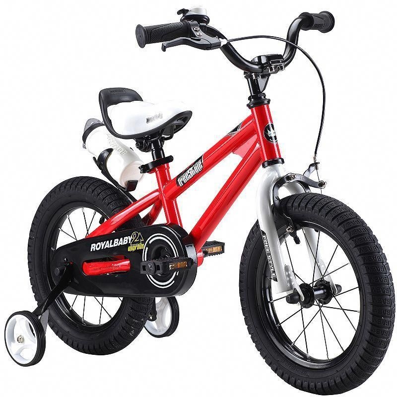 Wheels Freestyle BMX Boy/'s Bikes and Girl/'s Bikes with Training Wheel Red 14 in