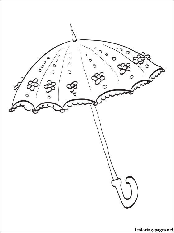Wedding Umbrella Coloring Page Coloring Pages Objects Digital