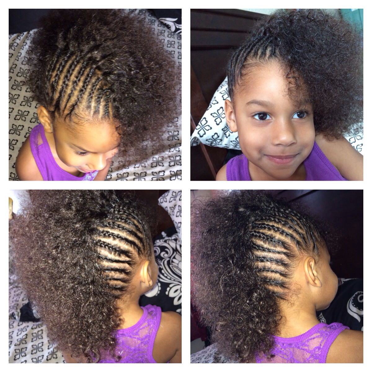 Cornrows mixed girl toddler halfro hairstyles hair pinterest