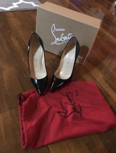 513d6f32d39 CHRISTIAN LOUBOUTIN Patent So Kate 120 Pumps Heels 38.5 Black 240005 ...