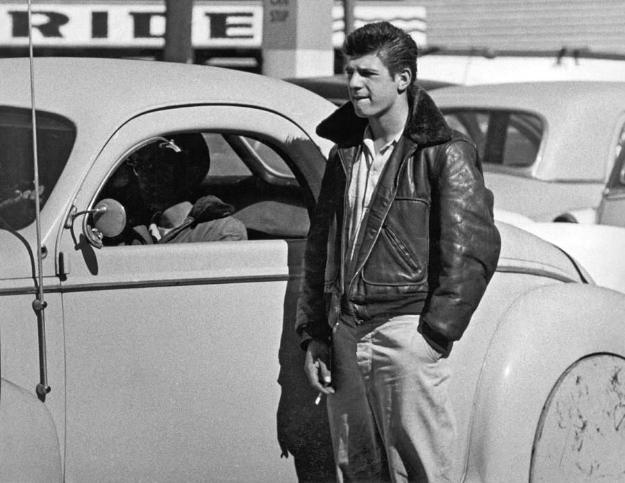 1950s Teenager With A Hot Rod | Best mens leather jackets ...1950s Cars For Teenagers