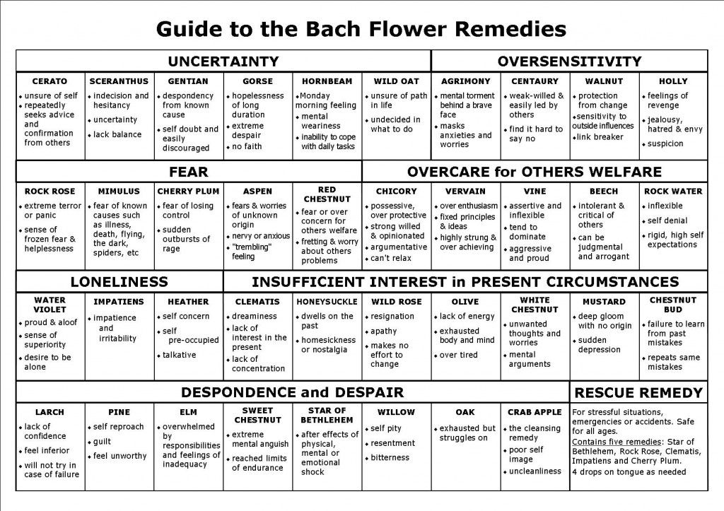 Find the right Bach Remedies for you