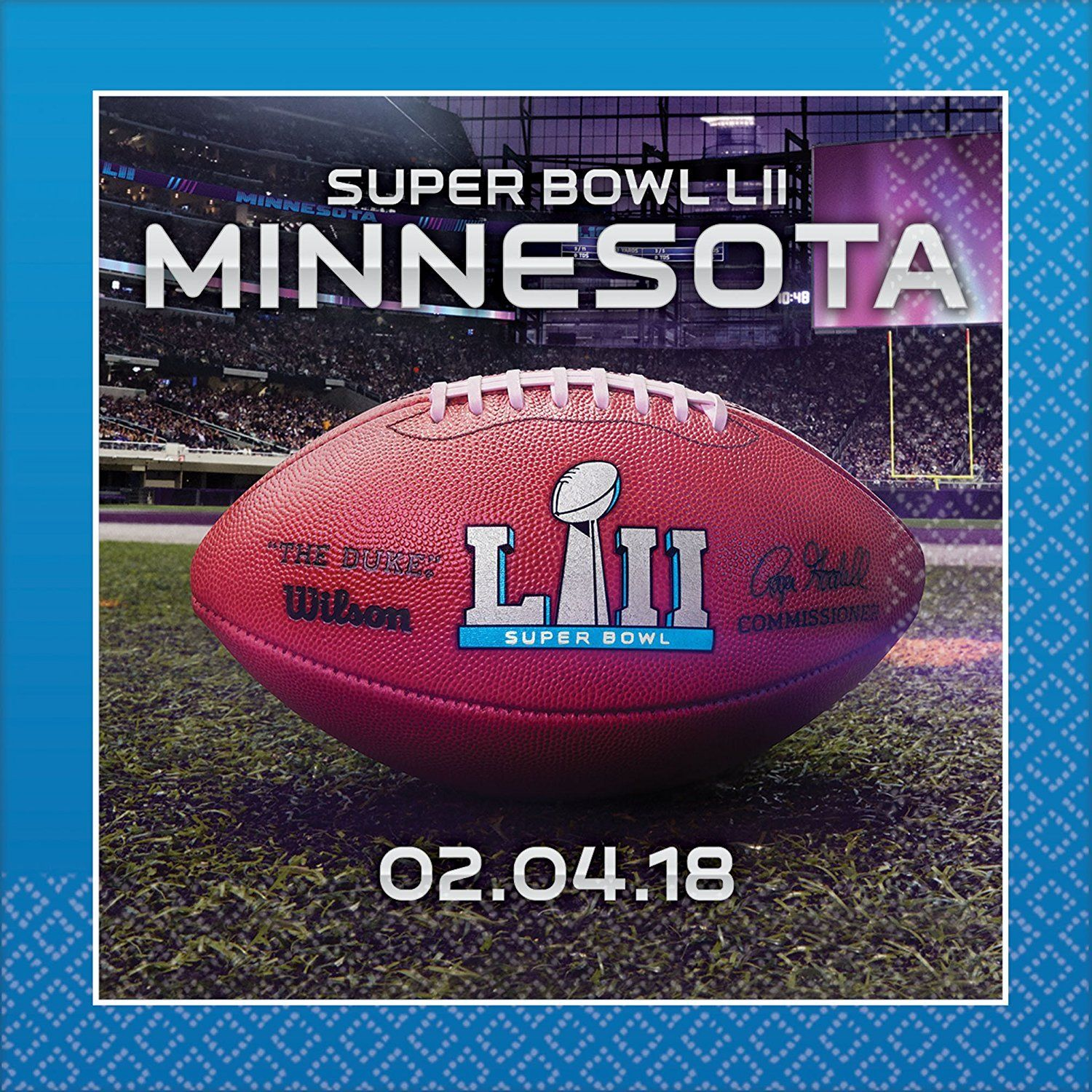 Super Bowl 52 Beverage Napkins Super Value Party Pack 96ct Want Additional Info Click On The Image It Is Amazon Affili Super Bowl Party Packs Super Bowl 52