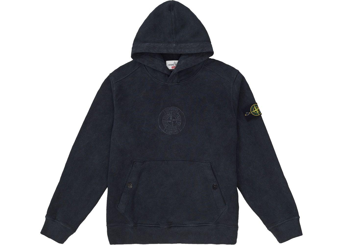 Supreme Stone Island Hooded Sweatshirt Ss19 Black Hooded Sweatshirts Sweatshirts Supreme Clothing [ 1000 x 1400 Pixel ]