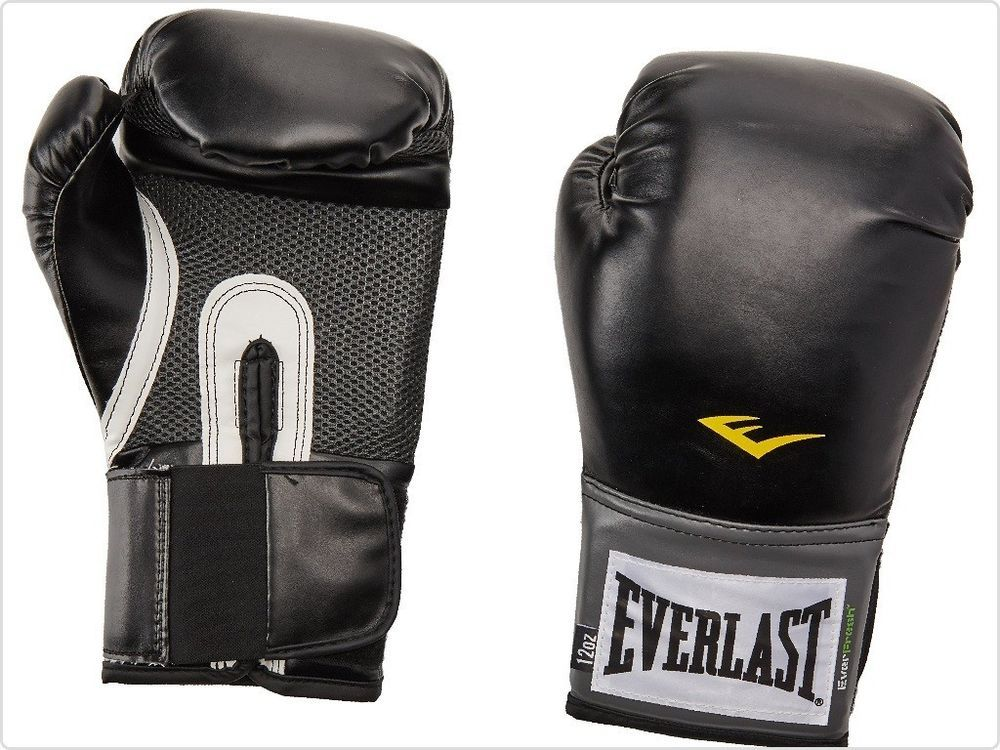 Everlast Pro Style Training Gloves 14oz Black Boxing Sparring Hands Fighting Gym Gym Boxing Training Boxing Training Gloves Training Gloves Sparring Gloves