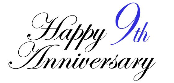 9th Year Wedding Anniversary Gifts: Come Celebrate Our 9th Year Anniversary With Us. Saturday