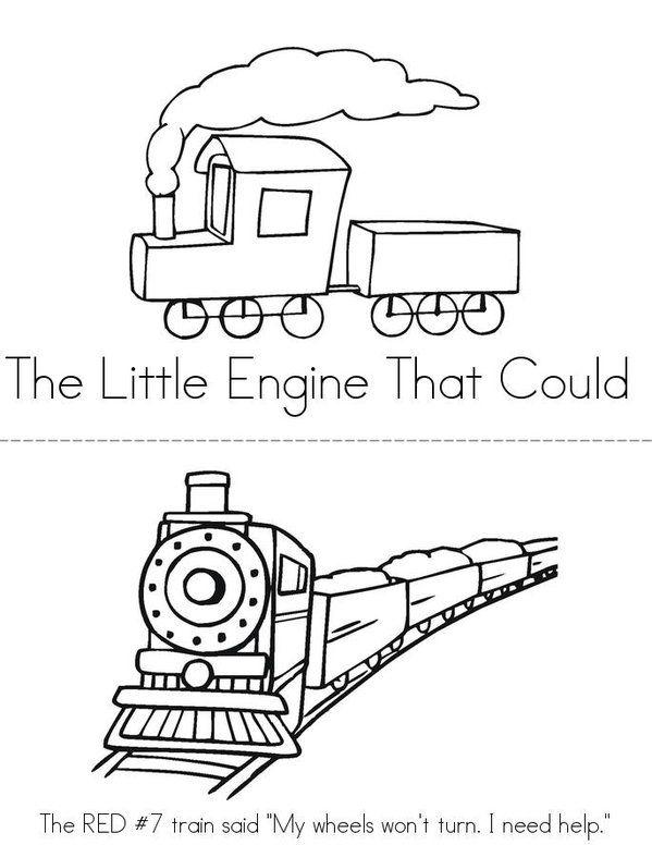 The Little Engine That Could Mini Book - Twisty Noodle - copy lionel trains coloring pages