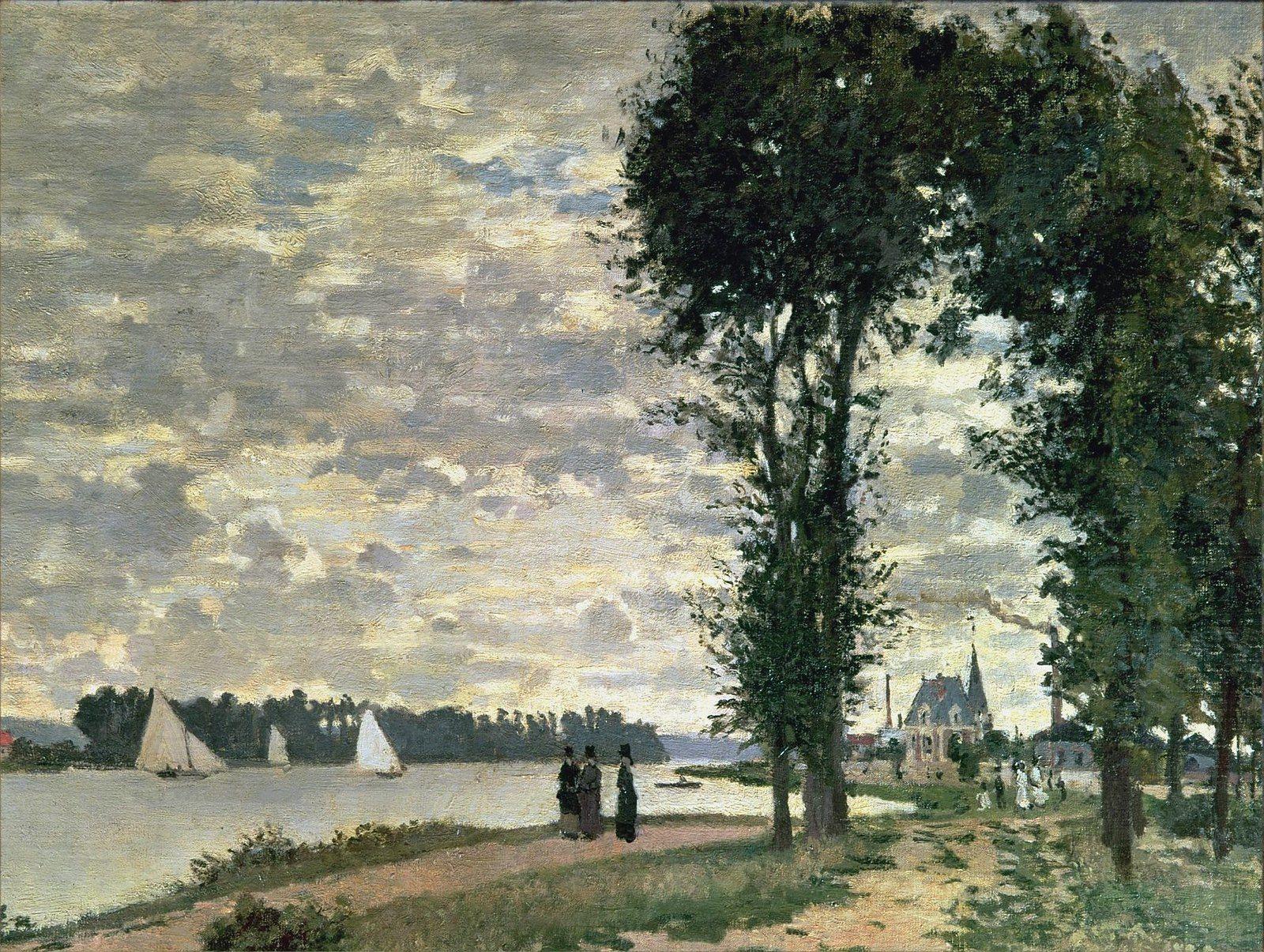 Claud Monet. The Seine at Argenteuil, 1872   Monet, Painting, Art