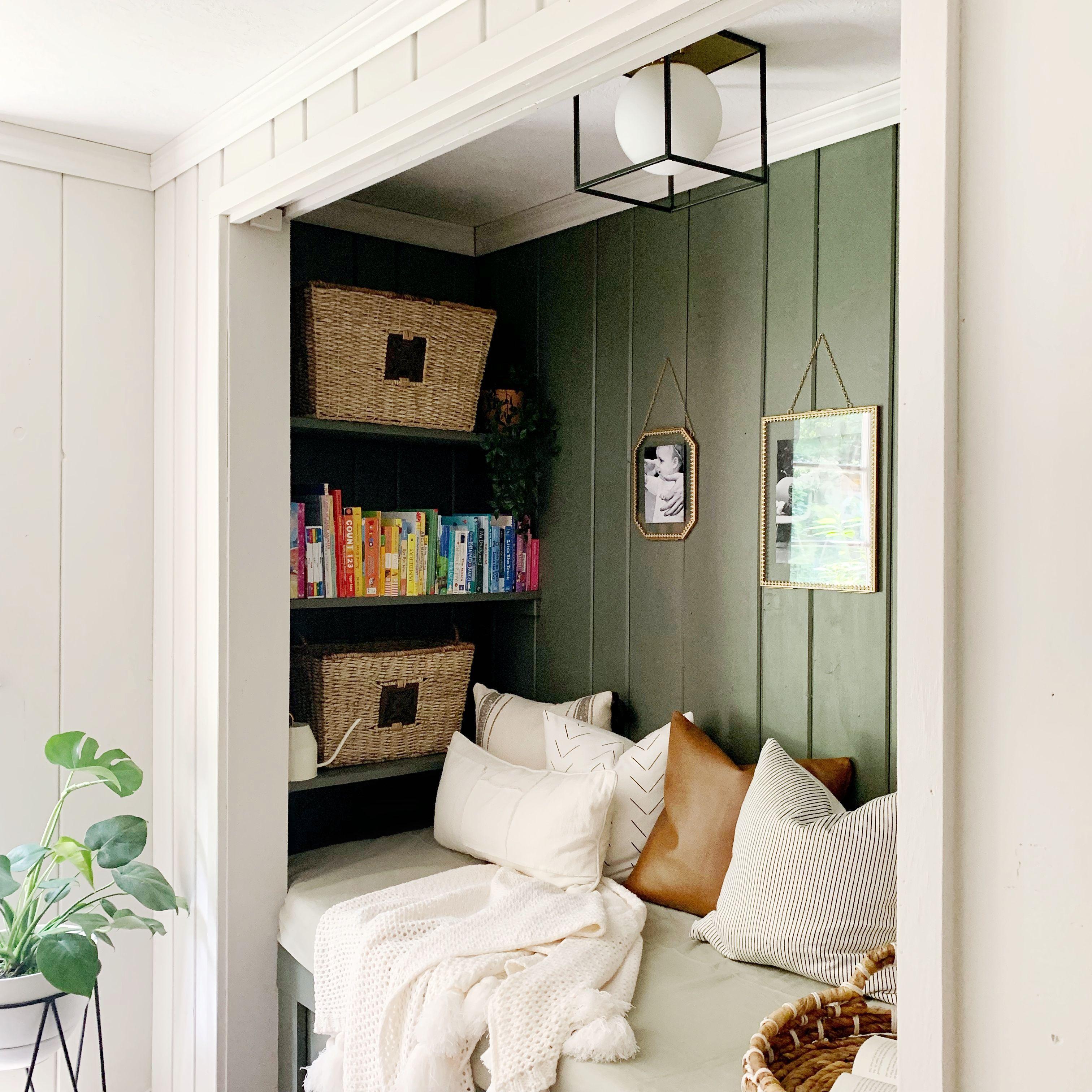 Diy A Cozy Book Nook Style Dwell Cozy Reading Nook Reading Nook Closet Reading Nook
