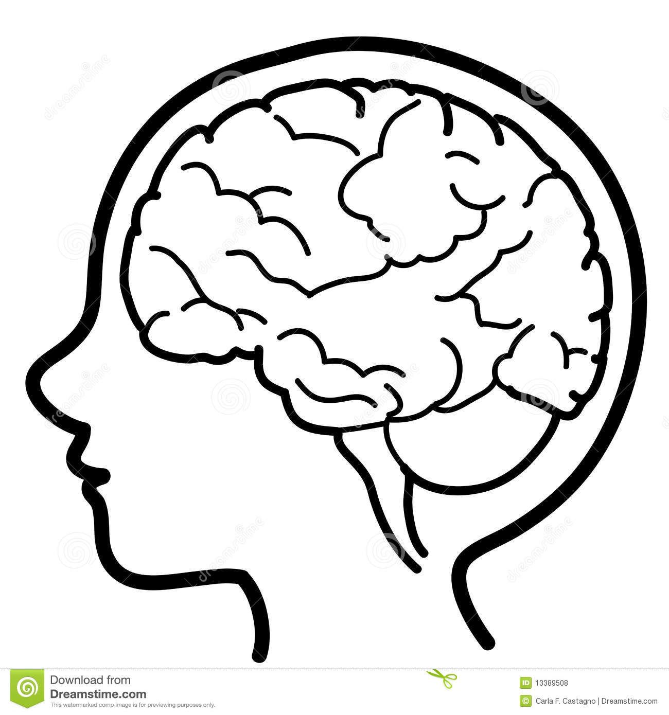 Child Profile With Visible Brain Vector Illustration Of Kid Profile With Black Sponsored Ad Ad Profile Brain Drawing Human Body Activities Brain Icon