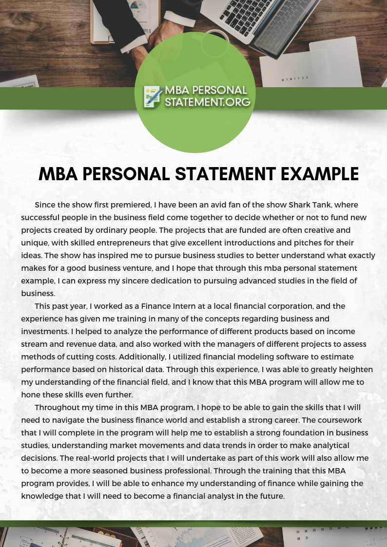 popular personal statement editor sites for mba