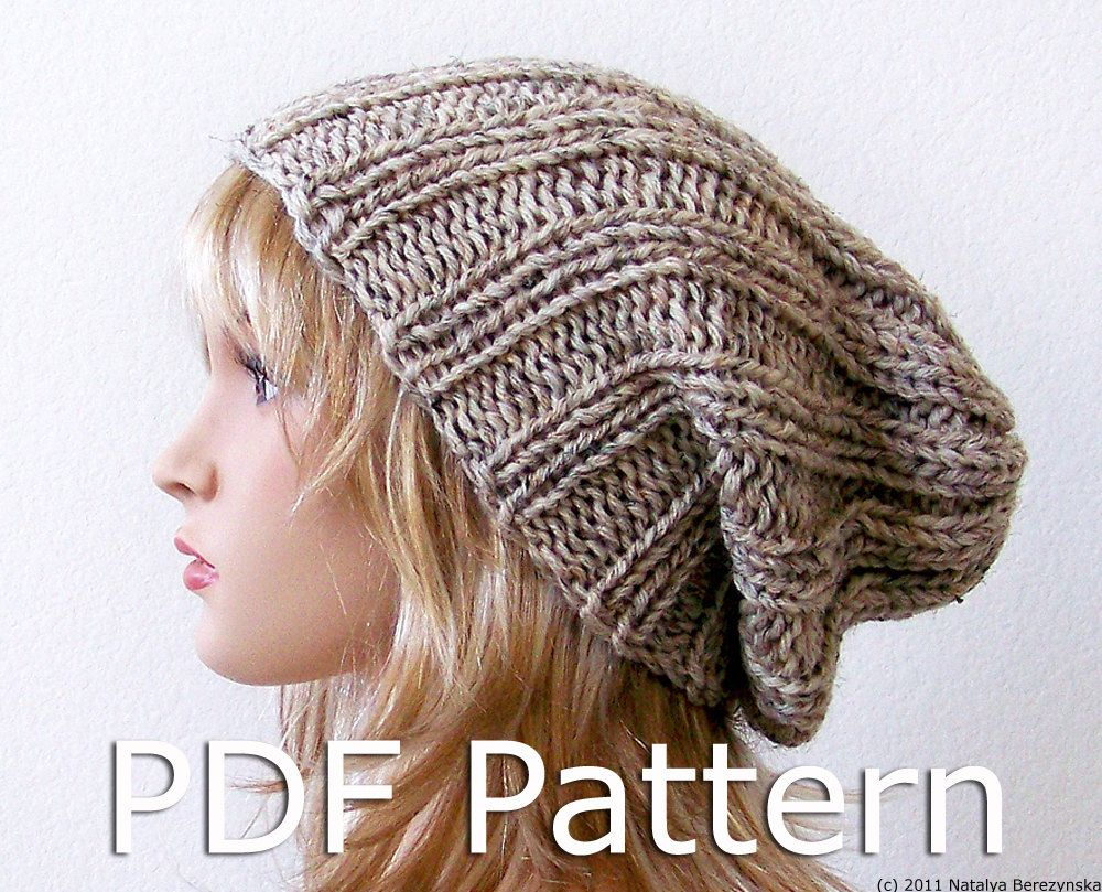 Instant download knitting pattern knit slouchy by natalya1905 items similar to knitting pattern knit slouchy beanie pattern slouchy hat pattern watchman hat pattern slouch beanie hat pattern on etsy bankloansurffo Choice Image