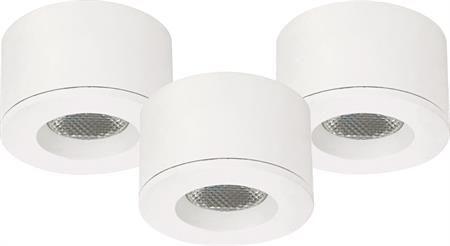 LED downlight 3x1,2W hvit