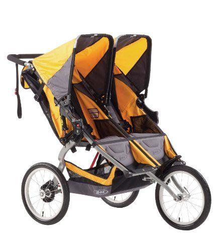 93564d725 BOB Ironman Duallie - Cochecito todoterreno gemelar de 3 ruedas, color gris  y naranja #carritosbebeorg
