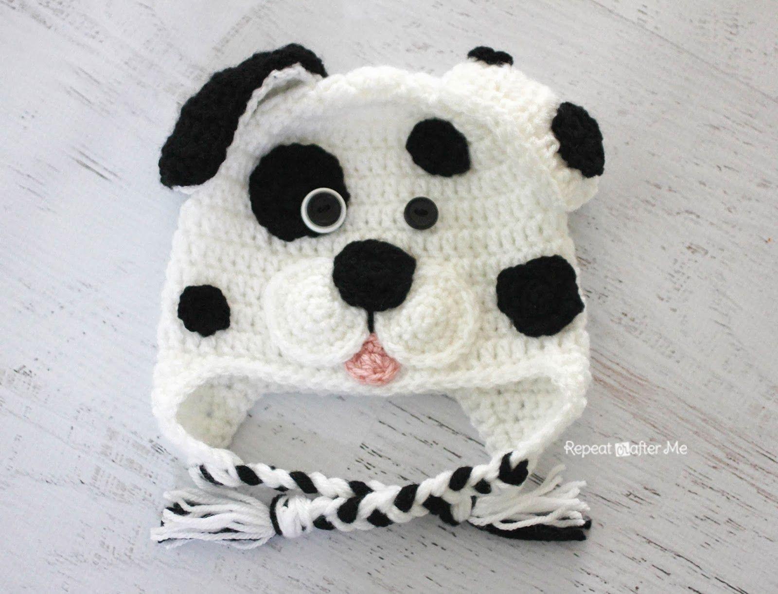 Crochet Dalmatian Dog Pattern | Gorros, Tejido y Carteras tejidas