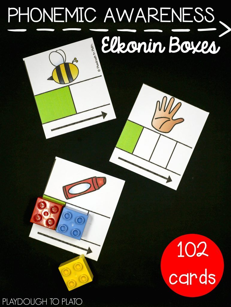 Awesome phonemic awareness activity for preschool or kindergarten! Sound  out phonemes with Elkonin boxes.