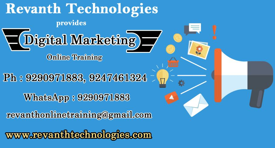 Digital Marketing Online training in India, Digital