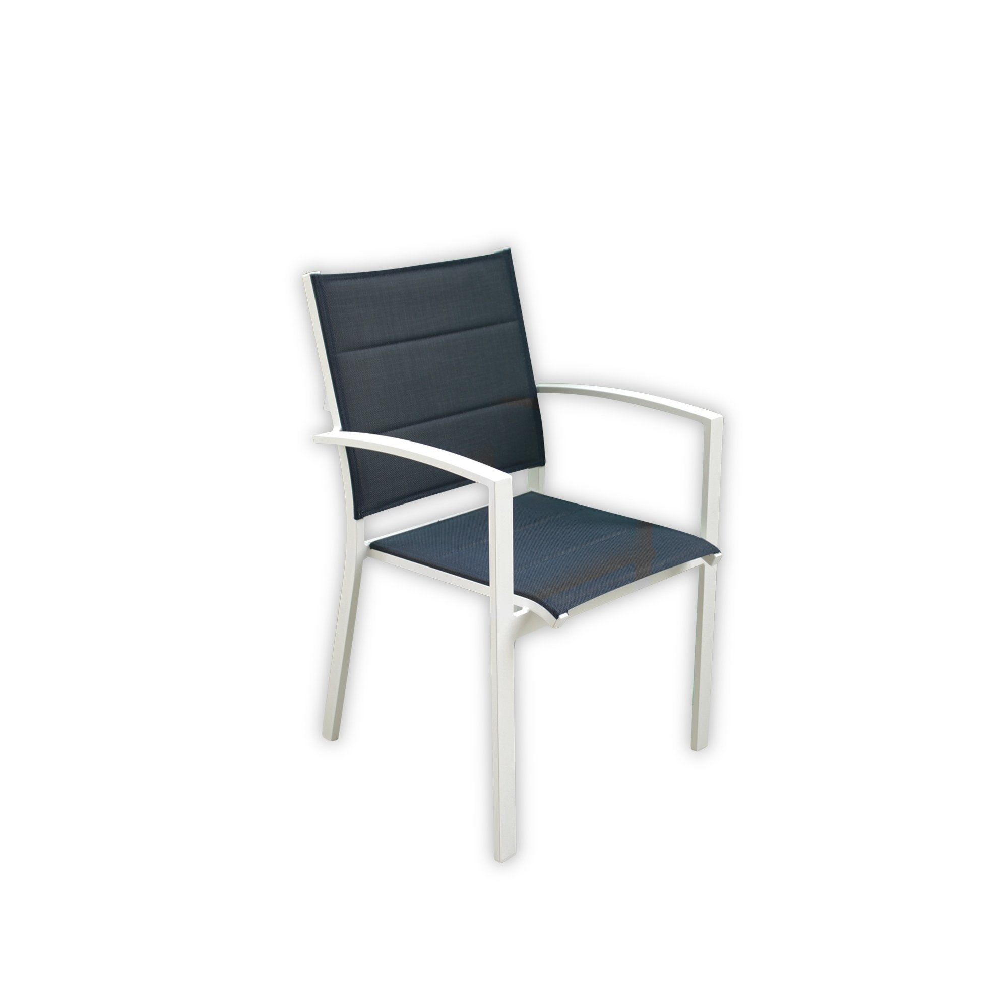 Wondrous Courtyard Casual Skyline White Aluminum Outdoor Dining Chair Ibusinesslaw Wood Chair Design Ideas Ibusinesslaworg