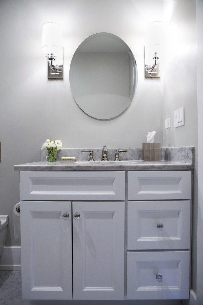Alexandra Kaehler Design : Gray and white neutral bathroom