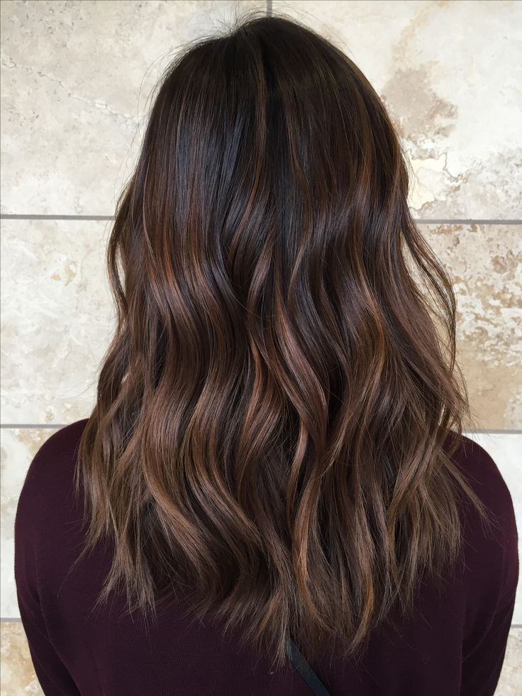 Caramel Balayage on Asian Hair