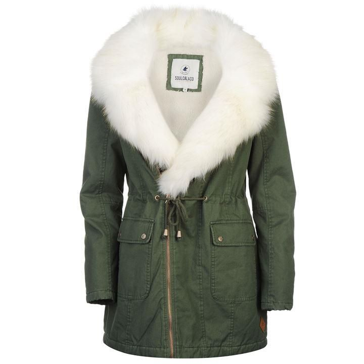 9a685fb347 SoulCal   SoulCal Biker Parka Ladies   Ladies Jackets and Coats ...