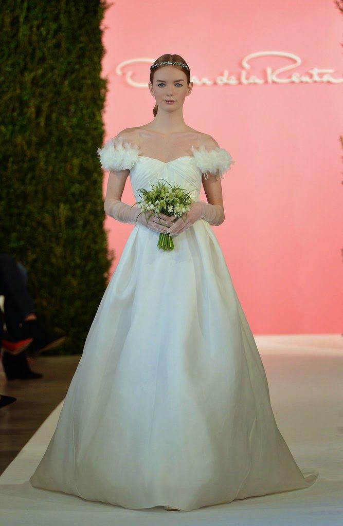 Oscar de la Renta Bridal Spring 2015...Different & interesting details. Ask your dressmaker for suggestions.