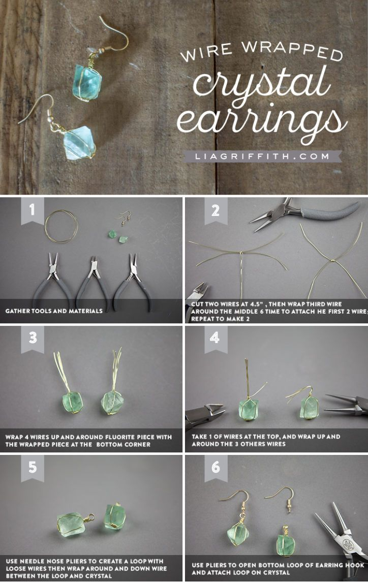 Photo of Easy Tutorial for Making Wire Wrapped Crystal Earrings
