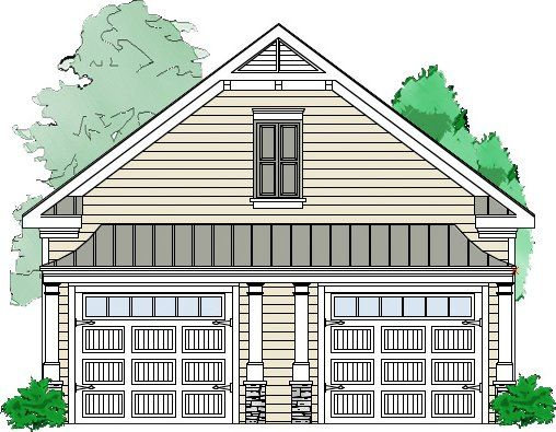 The Coleman Garage is a traditional detached 2 bay garage with a – 2 Bay Garage Plans