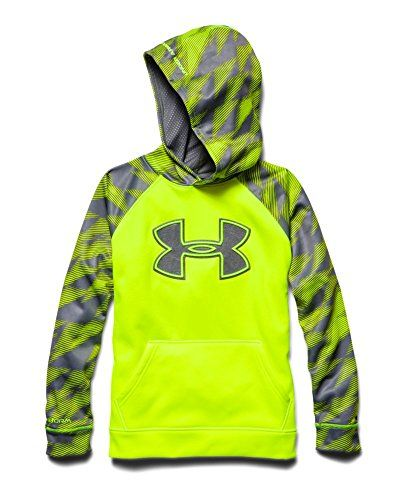 5271201d7 Under Armour Big Boys' UA Storm Armour® Fleece Big Logo Blocked Hoodie  Youth Medium High-Vis Yellow Under Armour