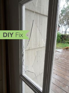 Diy Fix How To Repair A Broken Gl Door Pane With Images