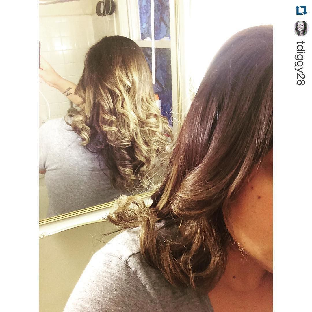 Wow!  You are such a pro!  Looks great! #Repost @tdiggy28  My hair straightener is better then yours #tyme #hairstraightener #curls #ombre #tymeiron #tymereview