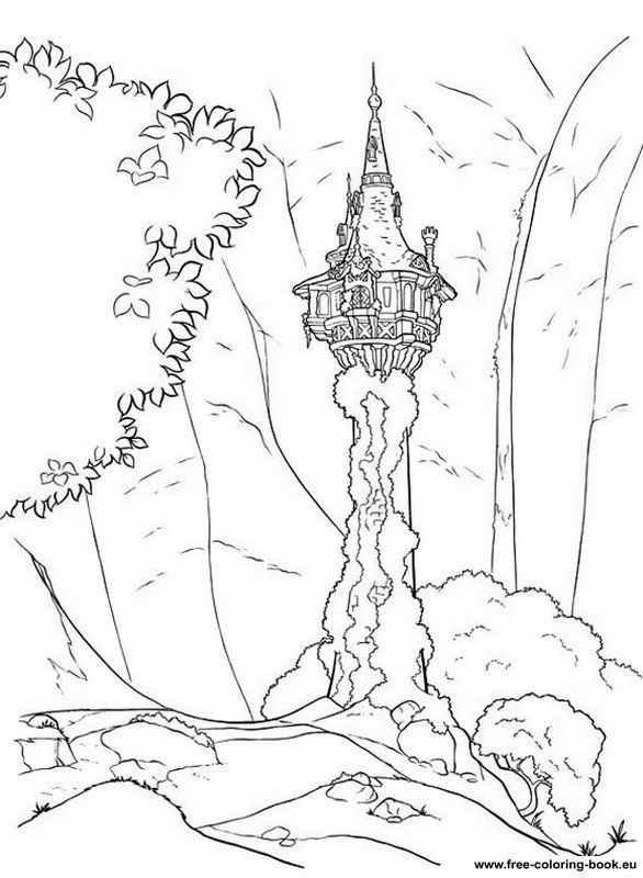 Disney Tangled Coloring Pages Printable Coloring Pages Tangled