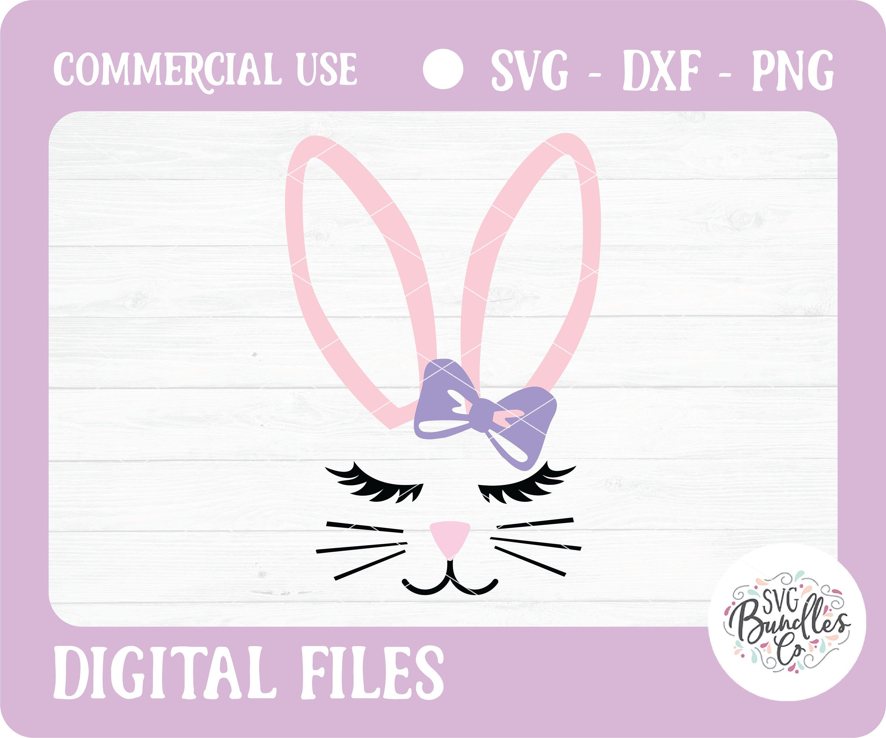 Instant Svg Dxf Png Cute Bunny Face Easter Bunny Svg Easter Svg Silhouette Cricut Bunny Svg Easter Party Svg Png Bags Decor Svg Bunny Svg Bunny Face Cute Bunny